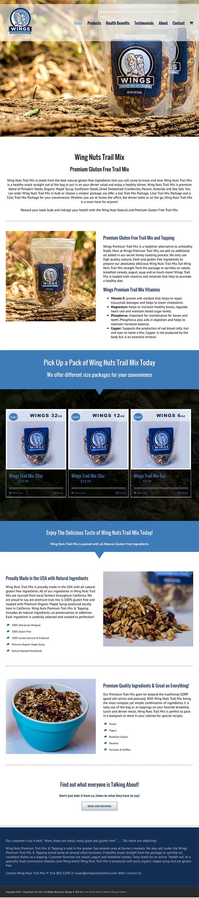 Wings Trail Mix Web Design