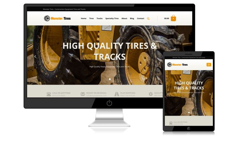Monster Tires Website Design_01