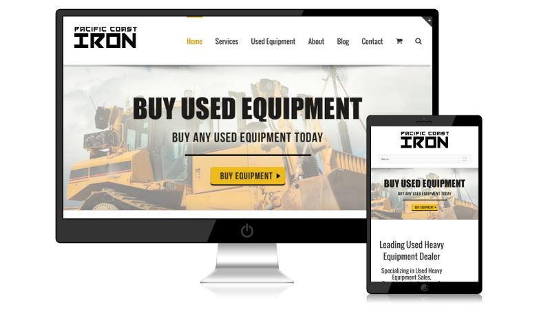 Pacific Coast Iron Website Design
